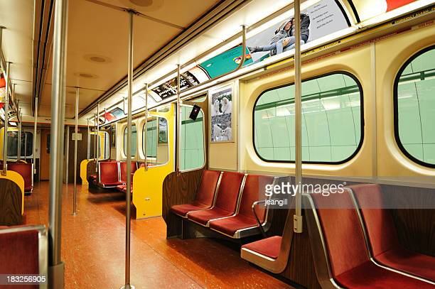 Empty subway train