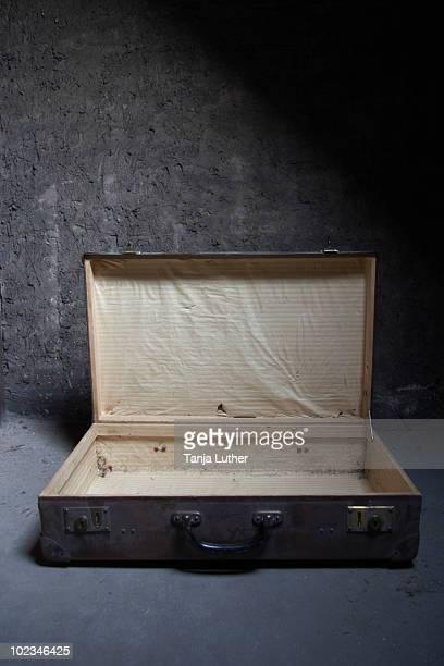 Empty suitcase, close-up