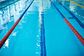 Swimming pool lane rope separated place for swimmer