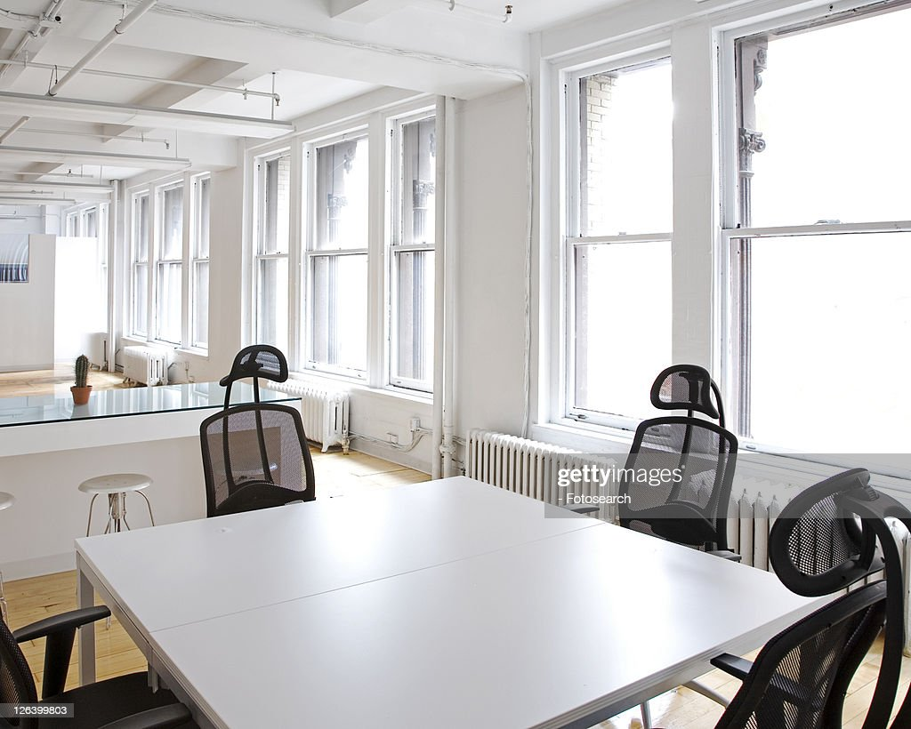 Empty Table and Chairs in Office : Stock Photo