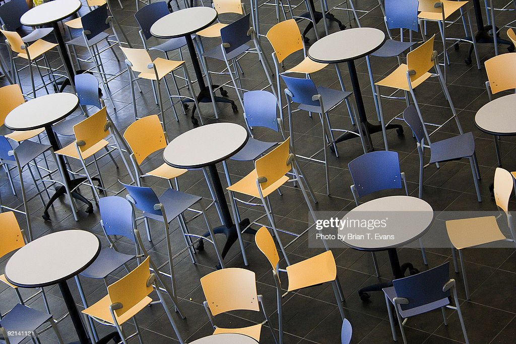 Empty Tables and Chairs  : Stock Photo