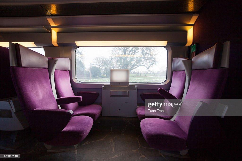Empty train seats : Stock-Foto