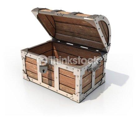 coffre au tr sor vide 3d illustration photo thinkstock. Black Bedroom Furniture Sets. Home Design Ideas