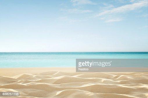 Empty tropical beach : Stock Photo