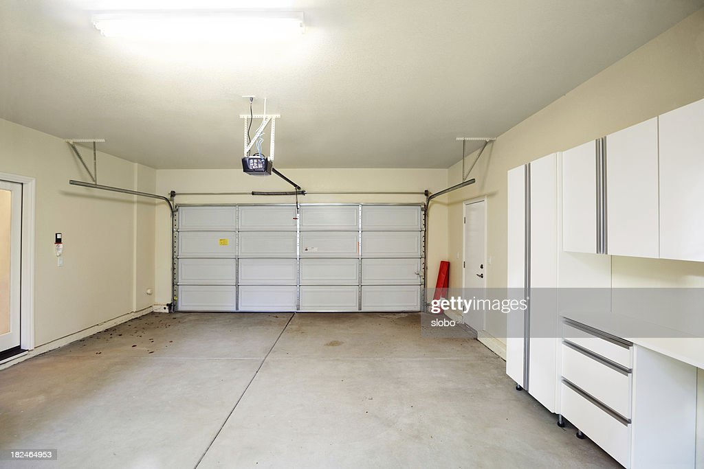 Empty Two Car Garage