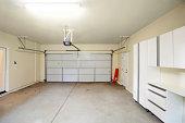 Empty Two Car Garage