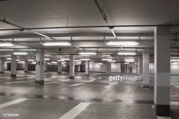 Empty underground parking structure