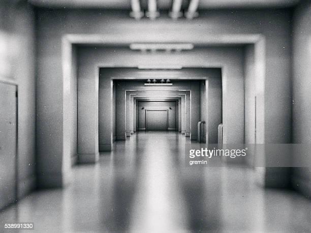Empty underground shelter