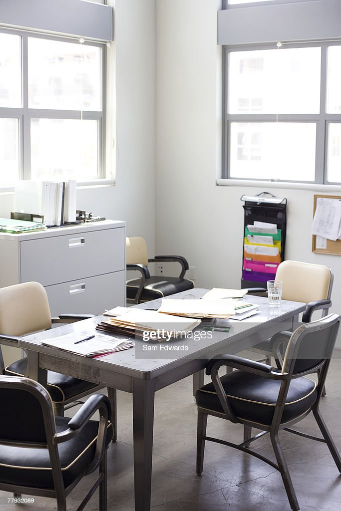 Empty untidy office : Stock Photo
