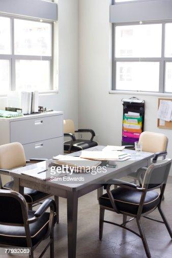Empty untidy office : Stock Photo