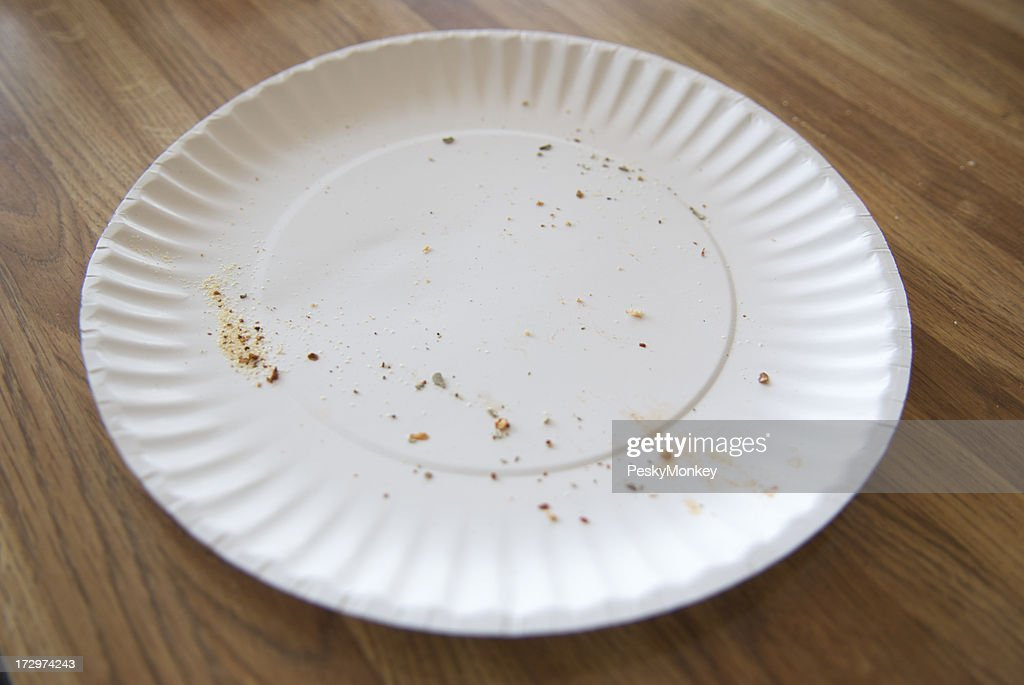 Paper Plate Grease and Crumbs