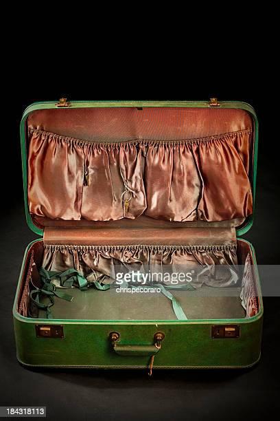 空のビンテージスーツケース