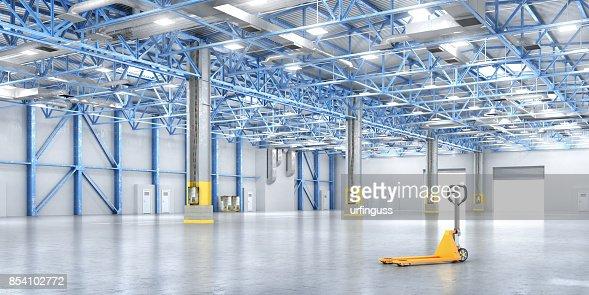 Empty warehouse : Foto stock
