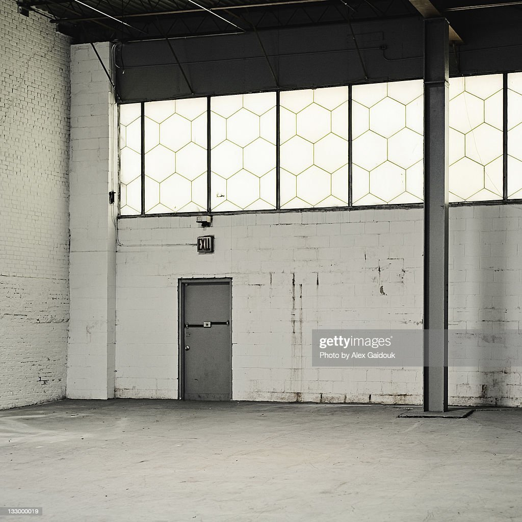 Empty warehouse room : Stock Photo