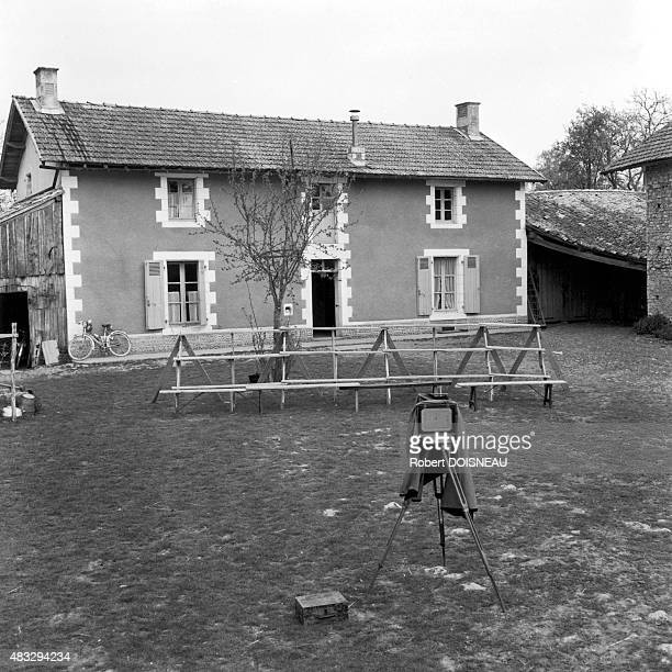 Empty wedding photo by Motillon Moreau in a farm 1956 in SaintSauvant France