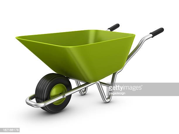 empty wheelbarrow
