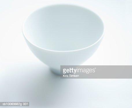 Empty white bowl on white background : Stock Photo