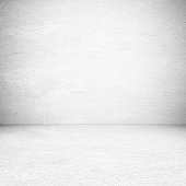Empty white cement room, background, banner, interior design, product display montage, mock up background
