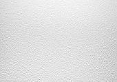 Empty white concrete wall with plaster relief pattern, background photo texture
