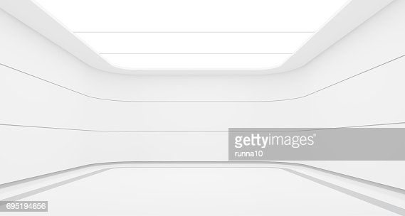 Empty white room modern space interior 3d rendering image : Foto de stock