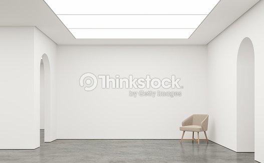 Leeren Weißen Raum Moderne Raum Innen 3d Render Bild Stock Foto