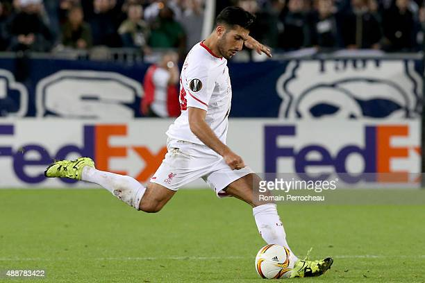 Emre Can for Liverpool FC during the Europa League game between FC Girondins de Bordeaux and Liverpool FC at Matmut Atlantique Stadium on September...