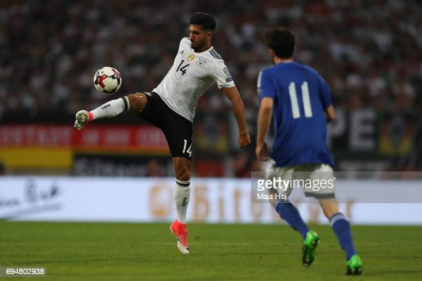 Emre Can of Germany and Tommaso Zafferani of San Marino battle for the ball during the FIFA 2018 World Cup Qualifier between Germany and San Marino...