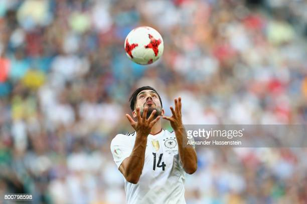 Emre Can of Germany reacts during the FIFA Confederations Cup Russia 2017 Group B match between Germany and Cameroon at Fisht Olympic Stadium on June...