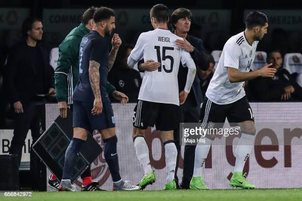Emre Can of Germany substitues Julian Weigl of Germany during the international friendly match between Germany and England at Signal Iduna Park on...