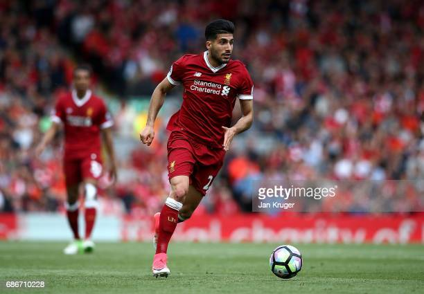 Emre Can of Liverpool during the Premier League match between Liverpool and Middlesbrough at Anfield on May 21 2017 in Liverpool England