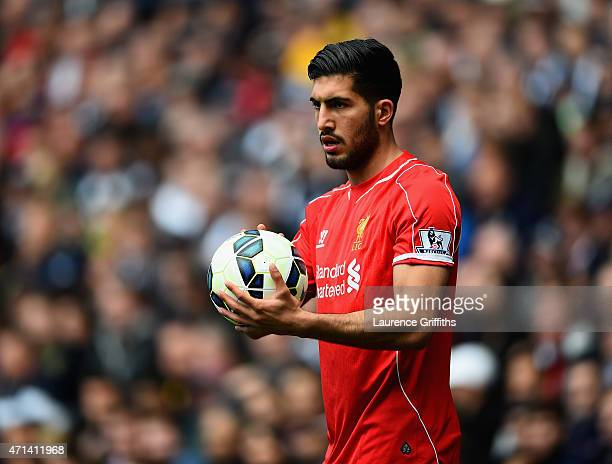 Emre Can of Liverpool in action during the Barclays Premier League match between West Bromwich Albion and Liverpool at The Hawthorns on April 25 2015...
