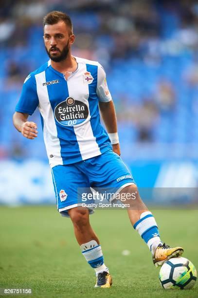 Emre Colak of Deportivo de La Coruna controls the ball during the Pre Season Friendly match between Deportivo de La Corua and West Bromwich Albion at...