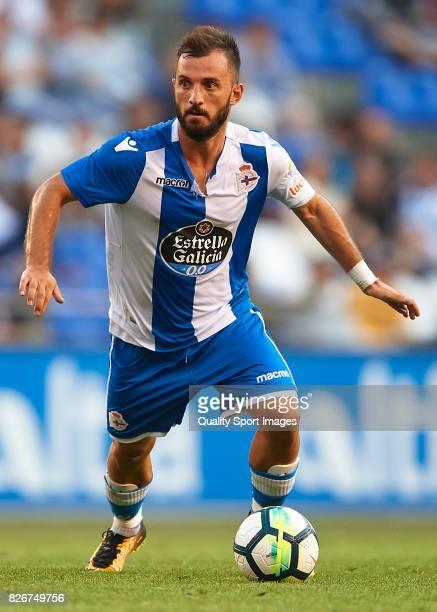 Emre Colak of Deportivo de La Coruna runs with the ball during the Pre Season Friendly match between Deportivo de La Corua and West Bromwich Albion...