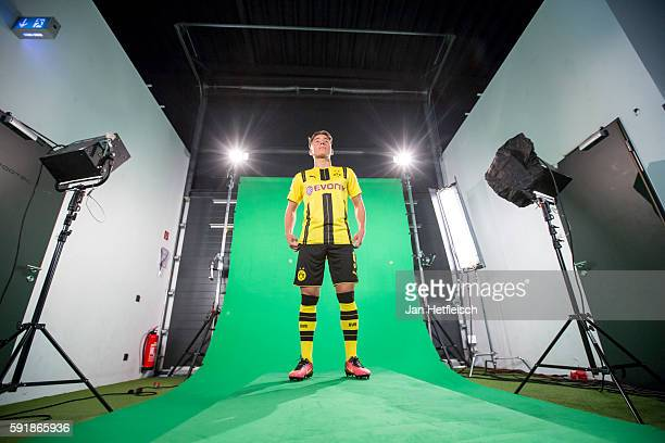 Emre Mor is seen in a recording studio during the DFL Media Day on August 2016 in Dortmund Germany
