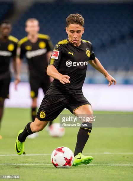 Emre Mor of Borussia Dortmund during a training sessen on July 14 2017 in Saitama Japan