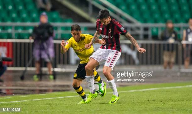 Emre Mor of Borussia Dortmund in action during a preseason friendly match between AC Milan and Borussia Dortmund on July 18 2017 in Guangzhou China