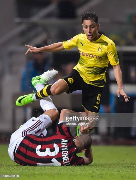 Emre Mor of Borussia Dortmund in action during the 2017 International Champions Cup football match between AC Milan and Borussia Dortmund at...