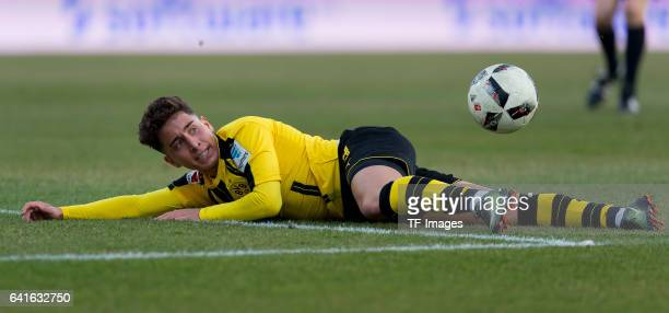 Emre Mor of Borussia Dortmund in action during the Bundesliga match between SV Darmstadt 98 and Borussia Dortmund at Jonathan Heimes Stadion am...