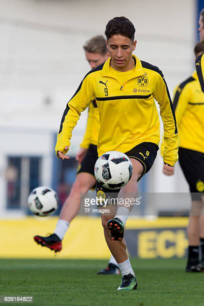 Emre Mor of Borussia Dortmund in action during the sixth day of the training camp in Marbella on January 10 2017 in Marbella Spain