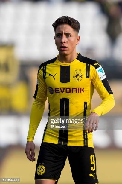 Emre Mor of Borussia Dortmund looks on during the Bundesliga match between SV Darmstadt 98 and Borussia Dortmund at Jonathan Heimes Stadion am...