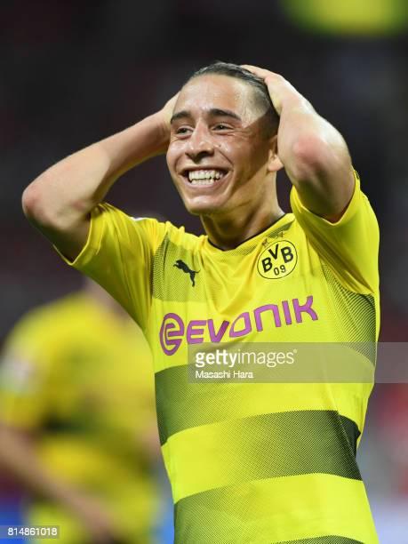 Emre Mor of Borussia Dortmund looks on during the preseason friendly match between Urawa Red Diamonds and Borussia Dortmund at Saitama Stadium on...