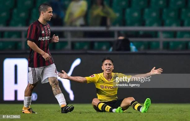 Emre Mor of Borussia Dortmund reacts during the 2017 International Champions Cup football match between AC Milan and Borussia Dortmund at University...