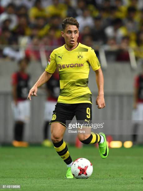 Emre Mor of Burussia Dortmund in action during the preseason friendly match between Urawa Red Diamonds and Borussia Dortmund at Saitama Stadium on...