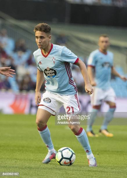 Emre Mor of Celta de Vigo in action during the La Liga match between RC Celta de Vigo and Deportivo Alaves at Balaidos Stadium on September 10 2017...