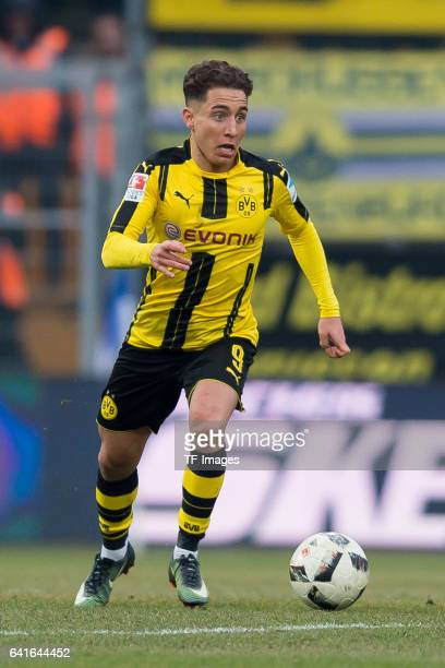 Emre Mor of Dortmund controls the ball during the Bundesliga match between SV Darmstadt 98 and Borussia Dortmund at Jonathan Heimes Stadion am...
