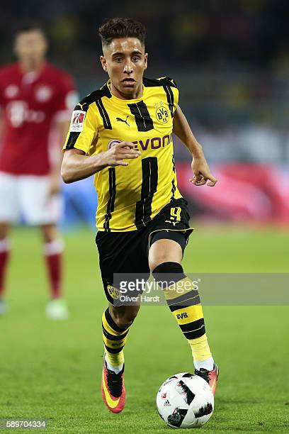 Emre Mor of Dortmund in action during DFL Supercup 2016 match between Borussia Dortmund and FC Bayern Muenchen at Signal Iduna Park on August 14 2016...