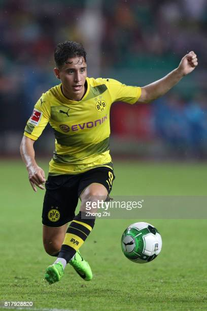 Emre Mor of Dortmund in action during the 2017 International Champions Cup football match between AC Milan and Borussia Dortmund at University Town...