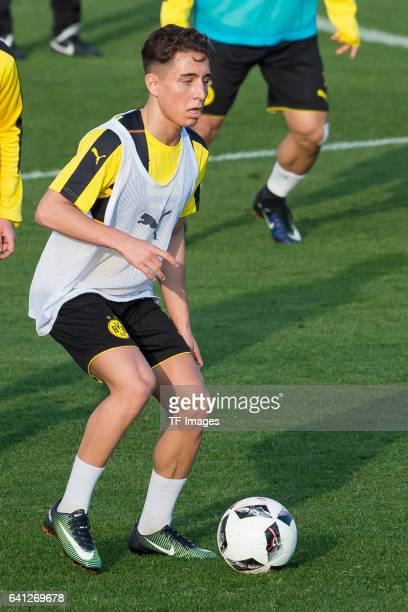 Emre Mor of Dortmund in action during the fifth day of the training camp in Marbella on January 09 2017 in Marbella Spain