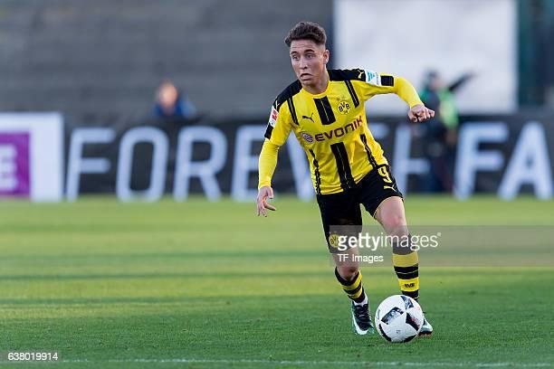 Emre Mor of Dortmund in action during the friendly match between Borussia Dortmund v PSV Eindhoven Friendly Match at Estadio Municipal La Linea de la...