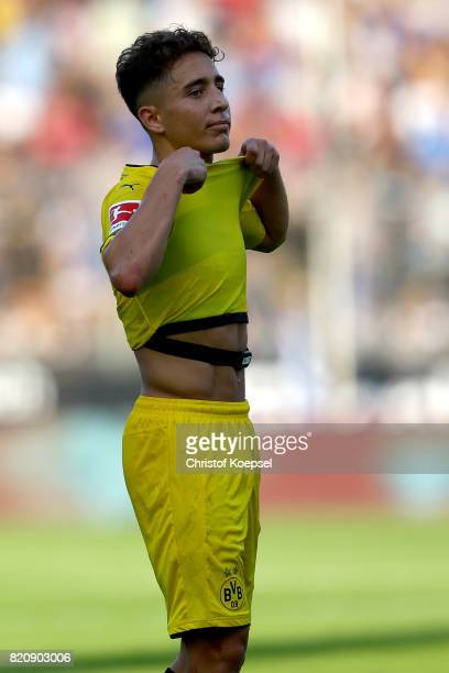 Emre Mor of Dortmund looks dejected during the preseason friendly match between VfL Bochum and Borussia Dortmund at Vonovia Ruhrstadion on July 22...